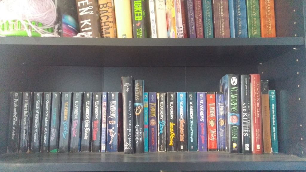 My V.C. Andrews shelf