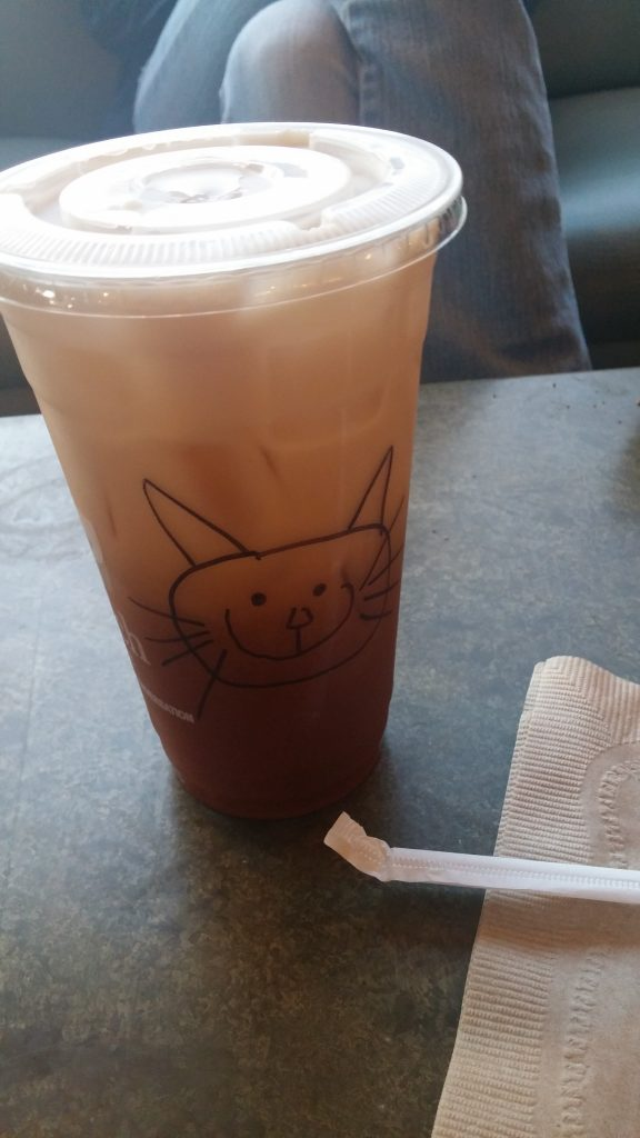 My friend Jen promised me a foam kitty but since I ordered it iced, I got this cute marker kitty instead.