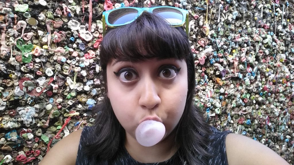 After wine tasting, we bought ice cream and window shopped in SLO. We also visited the disgusting Bubblegum Alley where I was terrified of adding my own gum to the collage. I felt like I was littering.