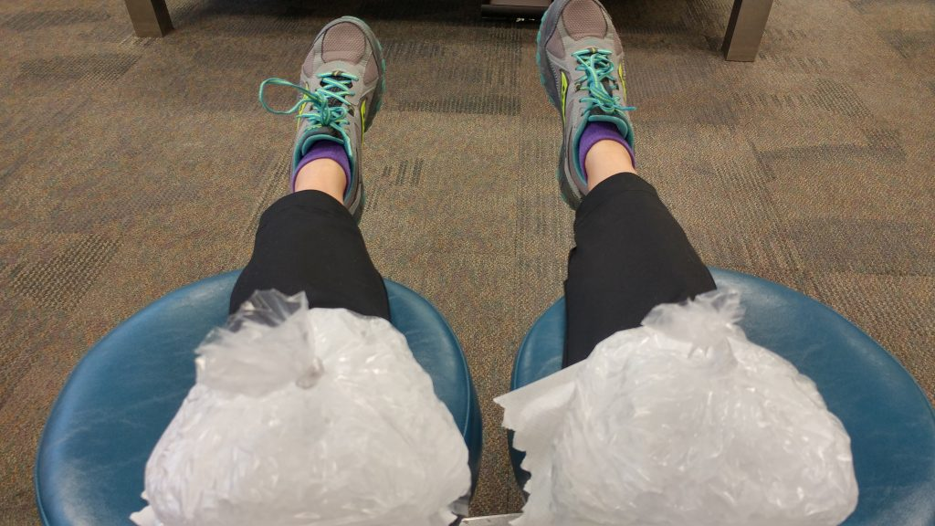 Icing my knees became an everyday routine.